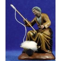 Hilandera 14 cm barro pintado Figuralia