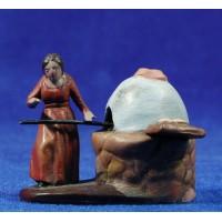 Pastora panadera 5 cm barro pintado Figuralia