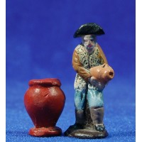 Pastor con jarras 5 cm barro pintado Figuralia