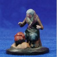 Pastora cocinando 5 cm barro pintado Figuralia