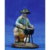 Pastor gachas 5 cm barro pintado Figuralia