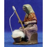 Hilandera 7 cm barro pintado Figuralia