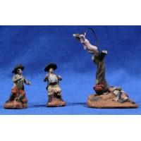 Anunciata 5 cm barro pintado Figuralia