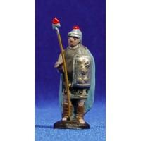 Soldado romano 5 cm barro pintado Figuralia