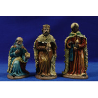 Reyes adorando 16 cm barro pintado Figuralia