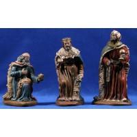 Reyes adorando 18 cm barro pintado Figuralia