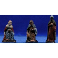 Reyes adorando 5 cm barro pintado Figuralia
