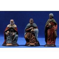 Reyes adorando 9 cm barro pintado Figuralia