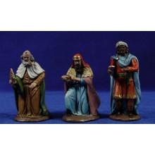 Reyes adorando 12 cm barro pintado Figuralia
