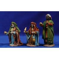 Reyes adorando 12 cm ropa y barro Figuralia