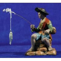Pescador 16 cm barro pintado Figuralia