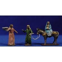 Huida a Egipto 7 cm barro pintado Figuralia