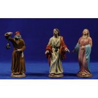 Pidiendo posada 16 cm barro pintado Figuralia