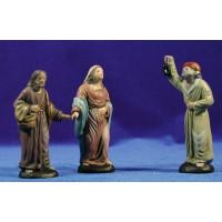 Pidiendo posada 9 cm barro pintado Figuralia