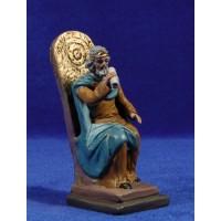 Herodes sentado 12 cm barro pintado Figuralia