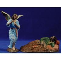 Sueño de San José 16 cm barro pintado Figuralia