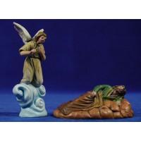 Sueño de San José 9 cm barro pintado Figuralia