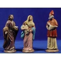 Presentación al templo 16 cm barro pintado Figuralia