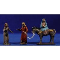 Pidiendo posada 7 cm barro pintado Figuralia