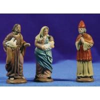 Presentación al templo 9 cm barro pintado Figuralia