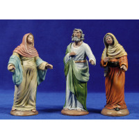 Visitación 16 cm barro pintado Figuralia