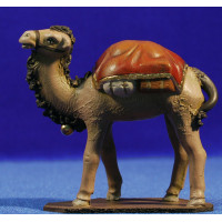 Camello de pie 9 cm barro pintado Figuralia