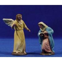 Anunciación a la Virgen 7 cm barro pintado Figuralia