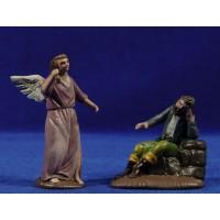 Sueño de San José 7 cm barro pintado Figuralia