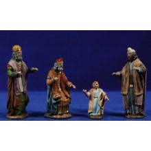 Jesús con los doctores en el templo 11 cm barro pintado y ropa Figuralia