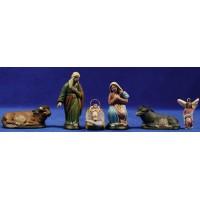 Nacimiento 7 cm barro pintado Figuralia