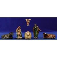 Nacimiento 9 cm barro pintado Figuralia