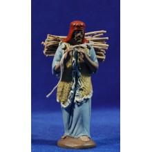 Pastor con leña 12 cm barro pintado Figuralia