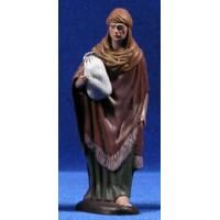 Pastor con saco 12 cm barro pintado Figuralia