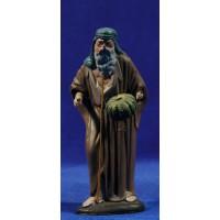 Pastor con pan 12 cm barro pintado Figuralia
