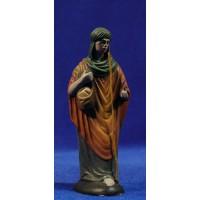 Pastor con saco pan 12 cm barro pintado Figuralia