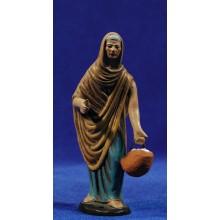 Pastora con huevos 12 cm barro pintado Figuralia