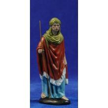 Pastor con bastón 12 cm barro pintado Figuralia