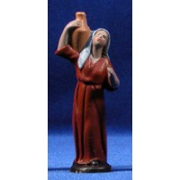 Pastora con jarra 7 cm barro pintado Figuralia