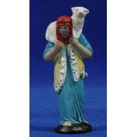 Pastor con cordero 7 cm barro pintado Figuralia