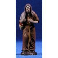 Pastora con cesto 7 cm barro pintado Figuralia
