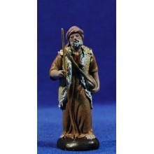Pastor con bolsa 7 cm barro pintado Figuralia