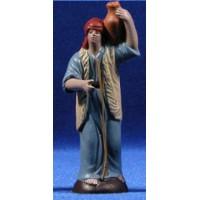 Pastor con jarra 7 cm barro pintado Figuralia