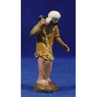 Pastor con conejo 7 cm barro pintado Figuralia
