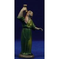 Pastora con jarras 9 cm barro pintado Figuralia