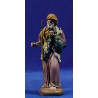 Pastor con pavo 9 cm barro pintado Figuralia