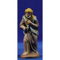 Pastor 9 cm barro pintado Figuralia