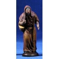 Pastora vieja con cesto 9 cm barro pintado Figuralia