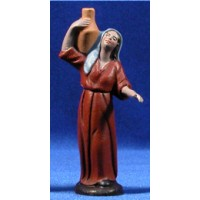 Pastora con jarra 9 cm barro pintado Figuralia