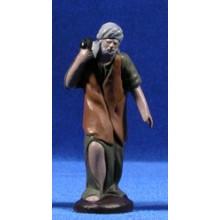 Pastor con conejo 9 cm barro pintado Figuralia