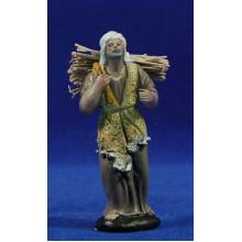 Pastor con leña 9 cm barro pintado Figuralia